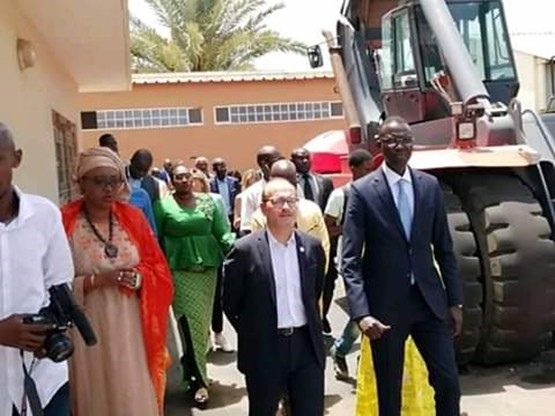 Le Ministre Dame Diop visite le centre de formation des