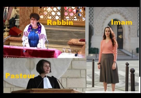 Voici les femmes Imam, Pasteur et Rabbin...