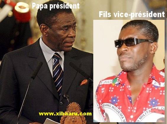 Sale temps pour des fils des présidents Africains